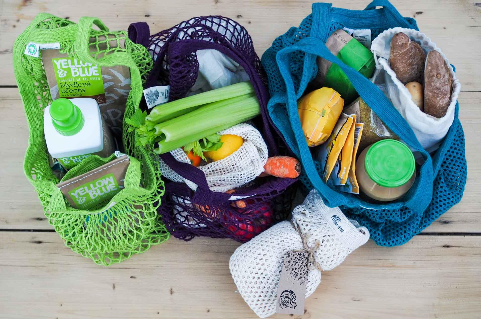Sáčky a tašky z biobavlny pro bezobalové nakupování