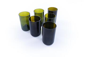 Sada sklenic Žízeň po životě – zelená (6 ks vysoká)